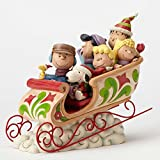 Jim Shore Peanuts Dashing Through the Snow Sleigh Ride Figurine 4052722 New