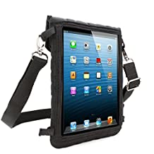 USA Gear FlexARMOR X Tablet Cover Carrying Case with Touch Capacitive Screen Protector and Adjustable Shoulder Strap – Works With the Apple iPad mini *Bonus Stylus and Accessory Bag*