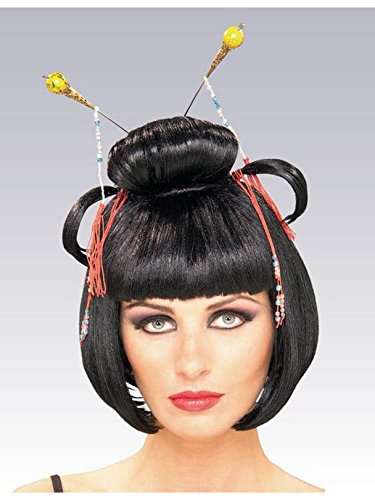Halloween Costumes For Asians - Rubie's Asian Lady Wig, Black, One