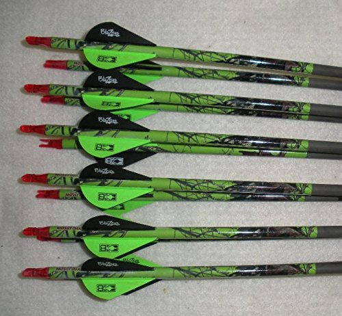 Gold Tip Expedition Hunter 5575/400 Carbon Arrows w/Blazer Vanes Mossy Oak Wraps 1/2 Dz.