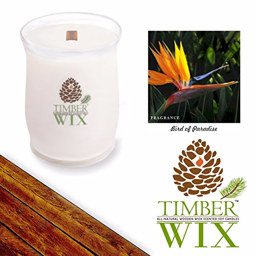 Bird Of Paradise Natural Wood - Timber Wix Bird of Paradise Soy Candle (14.5 oz. Wood Wick Jar) Spring Pick-3 Sale! See Details.