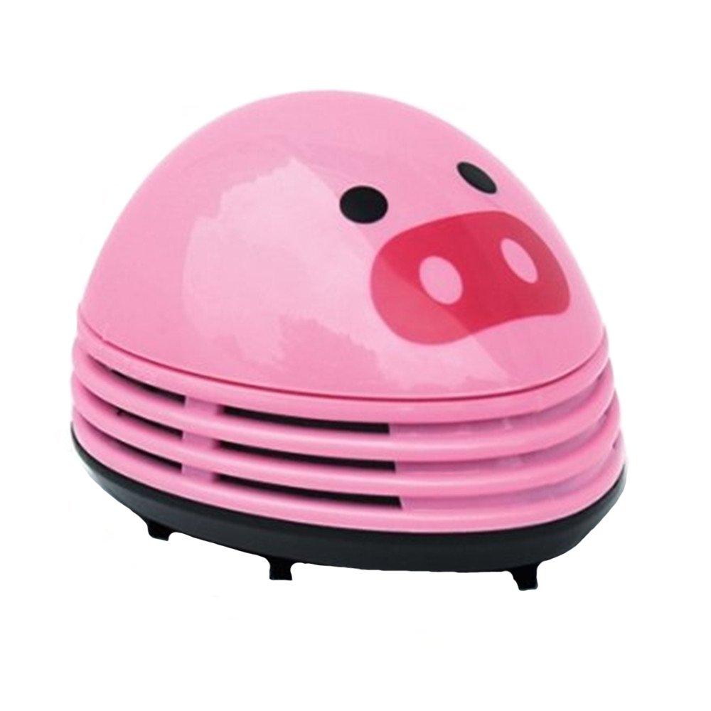 Vivian Cute Portable Electric Desktop Mini Vacuum Cleaner Dust Sweeper (Pink Pig)