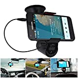 Car FM Transmitter, iTrendz Bluetooth In-Car FM Transmitter With Car Windshield Mount, Multipoint, Speaker, Music Controls & Hands-Free Calling For Smartphones, Tablets, MP3 Players