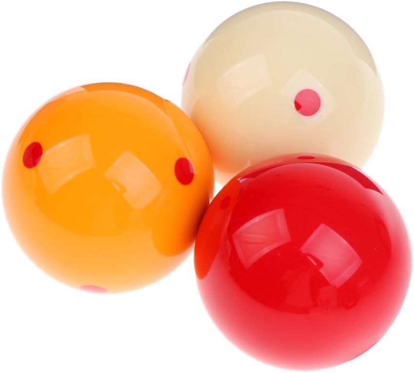 perfk 3 piezas Juego de bolas de billar francés de resina Juego ...