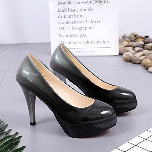en erthome femmes de cuir la à chaussures mode paire hauts bas à dégradée couleur 1 verni et talons pour chaussures PEIqPr