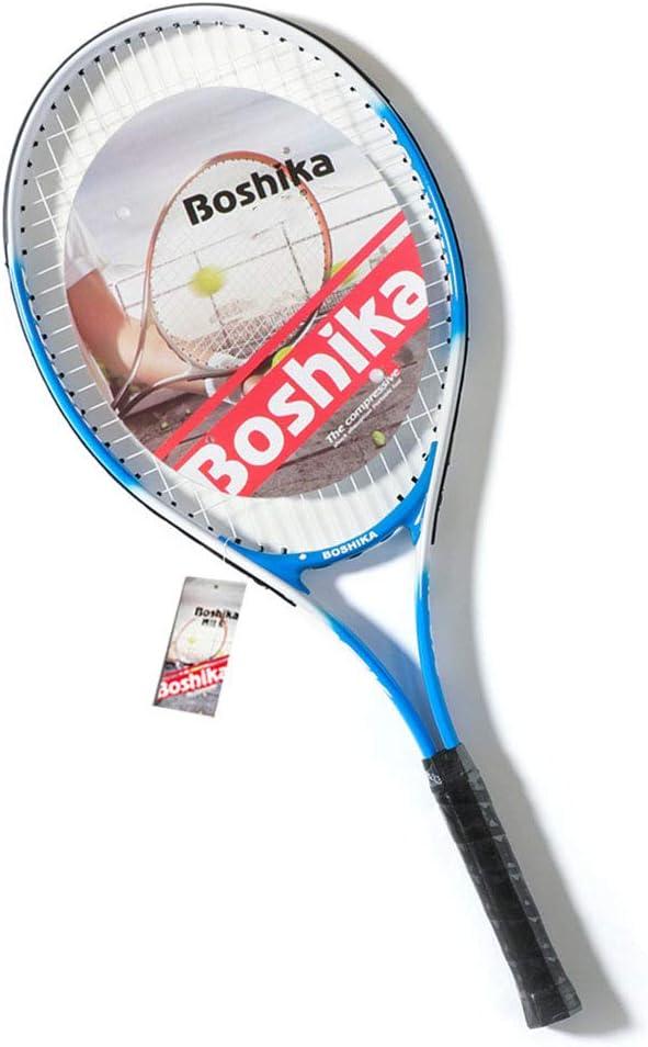 CEDY Raqueta de Tenis Adultos, Raquetas Frontenis Adulto para Raquetas de Tenis Principiantes y Jugadores intermedios, Rojo/Azul, con Backpack Bolsa, Unisex Adulto