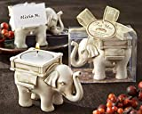 100 ''Lucky Elephant'' Antique Ivory-Finish Tea Light Holders
