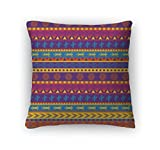 Gear New Zippered Mexican Pattern Square Pillow