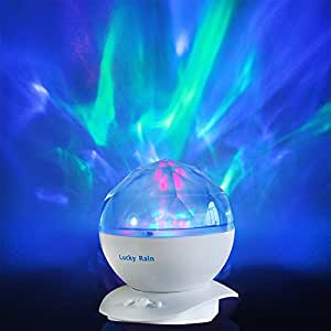 Aurora Borealis Night Light Projector With Music Player LED Color Changing  Projection Lamp Relaxing Sleep Soother