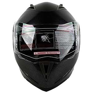 XFMT DOT Carbon Fiber Modular Flip Up Dual Visor Full Face Motorcycle Helmet L