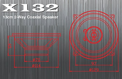 Excalibur Lautsprecher X132 13cm 600 Watt inkl Einbauset f/ür Audi A3 08//1996-06//2003 T/üren vorne