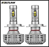 Boltlink LED Headlight Bulb H4 Dual Beam Kit CREE - 44w 6,000 Lumens 6,500k White Cree w/ Canbus Compatible Pack of 2 (H4, White)
