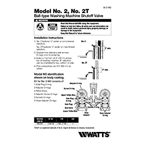 Watts Brass & Tubular 2T-M2 Washing Machine Shut Off Valve