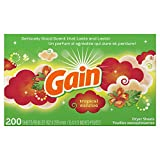Gain Dryer Sheets, Tropical Sunrise, 200 Count