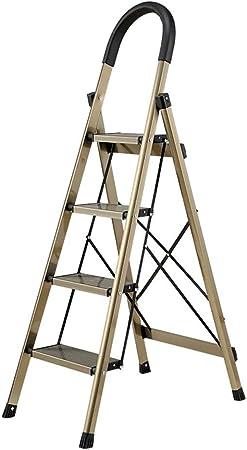Aleación De Aluminio Espiga De Escalera, Portátil Multifuncional Ingeniería Escalera, Escaleras Hogar Plegable, En Forma De U Esponja Pasamanos, Adecuados For Las Escuelas, Bibliotecas, Oficinas: Amazon.es: Hogar