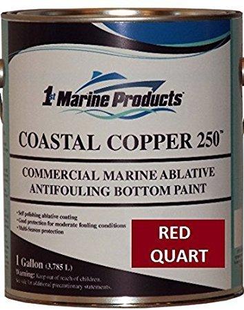 (Coastal Copper 250 Ablative Antifouling Bottom Paint RED QUART)