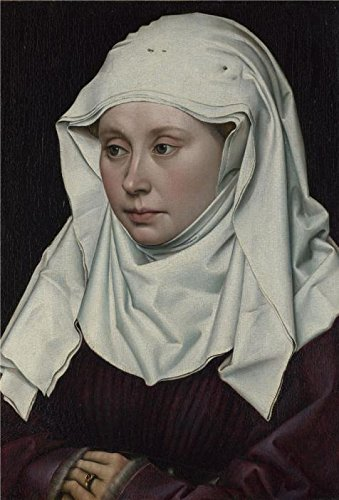 Polyster Canvas ,the High Definition Art Decorative Prints On Canvas Of Oil Painting 'Robert Campin-A Woman,about 1435', 10x15 Inch / 25x37 Cm Is Best For Foyer Artwork And Home Artwork (Female Carnie Costume)