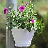 Candyqueen 1Pcs Colorful Hanging Planter Downspout Drain Pipe Flower Pot Garden Decor Plastic Flowerpot Random Colors