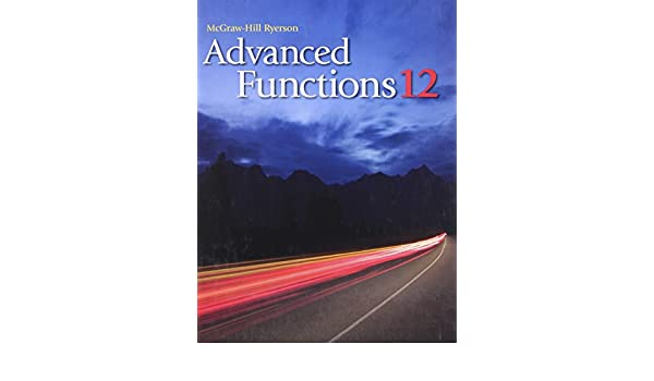 Nelson Advanced Functions 12 Ebook