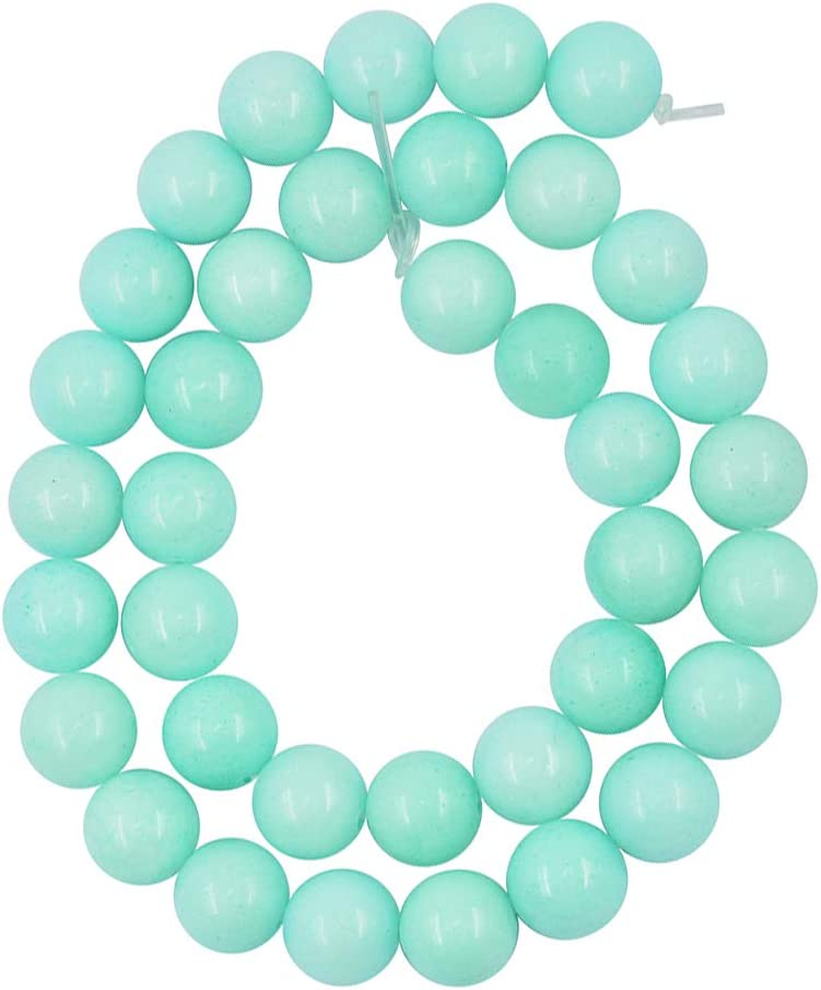 1 Strand 15 Semi Precious Blue ite Gemstones Loose Bead Natural Round Stone Crystal for Jewelry Making 6mm