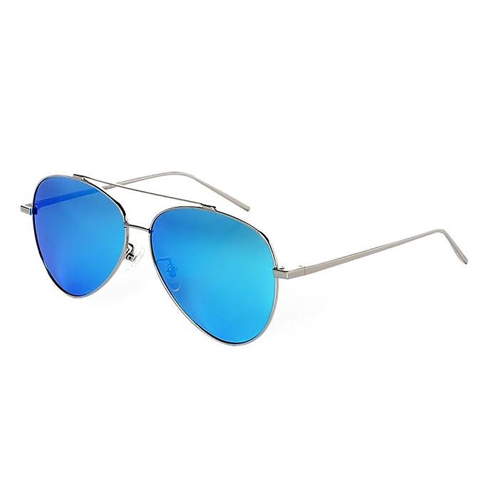 qbling technolog La mujer gafas de sol polarizadas de marca aviador Diseñador de metal dorado de