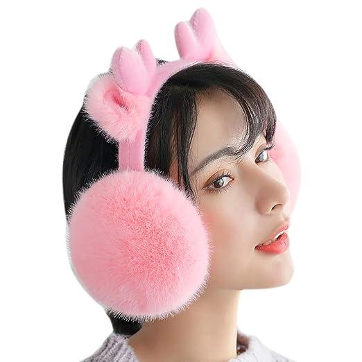 RUYA Men Winter Cold Proof Earmuffs Foldable Faux Fur Ear Warmer Ear Muff