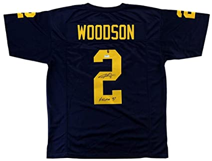 finest selection 034a5 2eed2 Charles Woodson Signed Michigan Blue Custom Jersey with ...