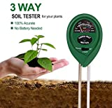 Kyпить Elenest 3-in-1 Soil pH Meter, Light and Moisture / Acidity Meter Plant Tester, Helpful for Garden, Farm, Lawn, Indoor & Outdoor (No Battery Required) на Amazon.com