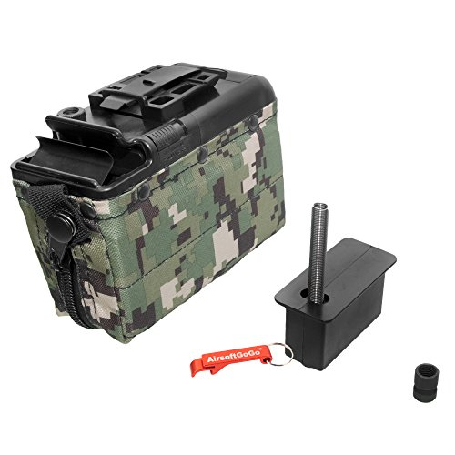 Aeg Classic Army (Auto-Winding 1200rd Box Magazine for Classic Army M249 Airsoft AEG (Green) - Keychain Included)