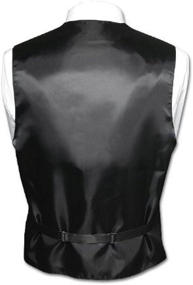Brand Q Mens Formal Prom Wedding Tuxedo Vest Tie /& Pocket Square Set in Coral