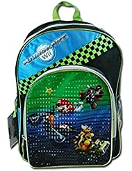 MarioKart Wii Super Mario 16 Backpack, Black, Large