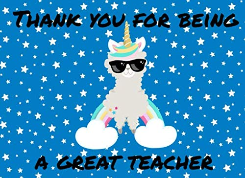 Thank You For Being A Great Teacher: Teacher Fill In Book To Say Thank You For Being The Best Teacher Ever For | Cute Modern Message Notebook (The Best School Year Ever Questions And Answers)