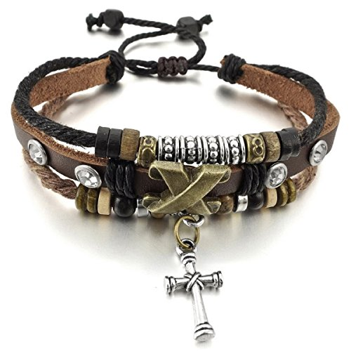 HITOP Genuine Leather Bracelet Adjustable