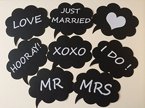 Fonder Mols Set Of 8 Wedding Engagement Photo Booth Signs Photobooth