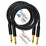 2 Units - 4 Foot - Audioblast HQ-1 - Ultra Flexible-Dual Shielded (100%) - Guitar Instrument Effects Pedal Patch Cable w/Neutrik-Rean NYS224BG Gold ¼ inch (6.35mm) TS Plugs & Triple Staggered Boots