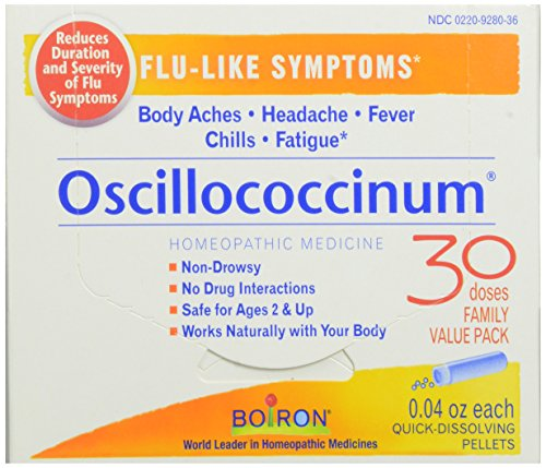 Medicine Homeopathic Flu (Boiron Oscillococcinum, 0.04 Ounce (30 Count), Homeopathic Medicine for Flu-like Symptoms)
