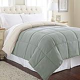 Amrapur Overseas Goose Down Alternative Microfiber Quilted Reversible Comforter / Duvet Insert - Ultra Soft Hypoallergenic Bedding - Medium Warmth for All Seasons