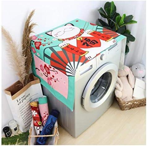 Lavadora del hogar cubierta de tela suerte gato de dibujos ...