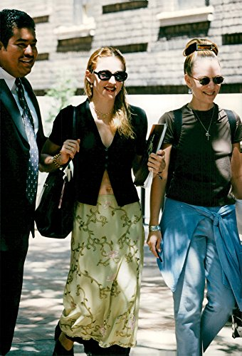 (Vintage photo of Madonna is shopping at Madison Avenue with her friend Ingrid)