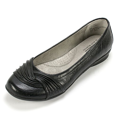 WHITE MOUNTAIN Women's Hilt Ballet Flat, Black, 8 M US from WHITE MOUNTAIN