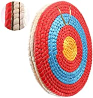 DOSTYLE Traditional Solid Straw Round Archery Target Shooting Bow Coloured Rope Target Face Three Layer for Sh