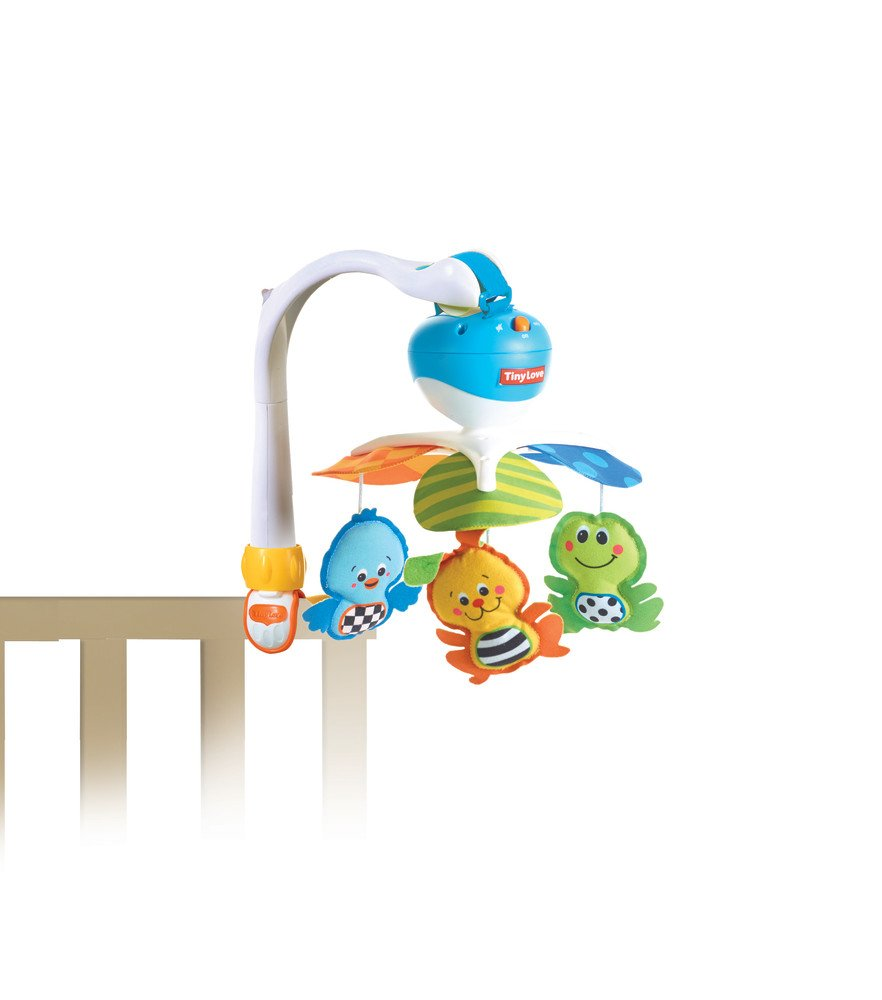 3 Melodies Developmental Cot Mobile 0-24 Months Newborn Baby Mobile with Music Into the Forest Suitable from Birth Tiny Love Classic Mobile