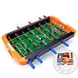 Foosball Tables, UHBGT Portable Mini Table Football Soccer Game Table Game Room Football Table Sports for Adults and Kids (8 Sticks)