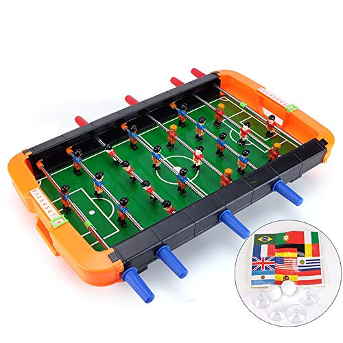 Foosball Tables, UHBGT Portable Mini Table Football Soccer Game Table Game Room Football Table Sports for Adults and Kids (8 Sticks) by UHBGT
