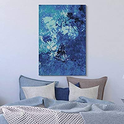 Grand Creative Design, With a Professional Touch, Oil Painting Style Abstract Blue Artwork