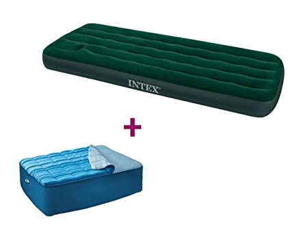 INTEX - Colchón Hinchable de Camping Downy 1 Plaza + ...