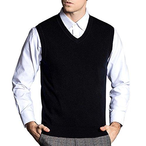 V-Neck Wool Vest - 5