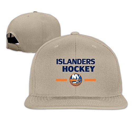 Custom Unisex New York Hockey Logo Flat Billed Baseball Caps Natural