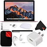Apple 12 MacBook (Mid 2017 Rose Gold) 256GB SSD (MNYM2LL/A) + Microfiber Cloth + Padded Case MacBook Bundle