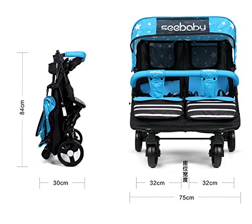luxury baby stroller for twins,360 baby stroller,landscape baby trolley ,twins stroller,baby strollers double by vory (Image #3)